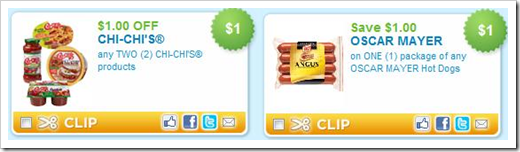 Oscar Mayer and Chi-chi 1 dollar off printable coupon