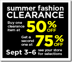 Dollar General Summer Fashion Clearance Buy One 50 percent off Get One 75 percent off