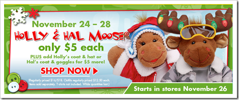 Build-A-Bear Holly and Hal 5 dollar sale