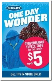 One Day Wonder 5 dollar Fleeces
