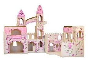 Amazon Melissa and Doug Deluxe Wooden Folding Princess Castle
