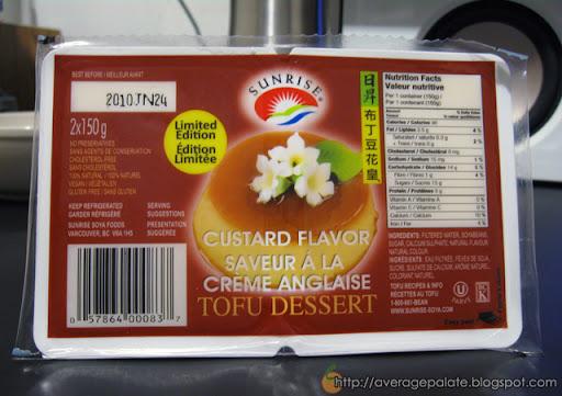 Sunrise Tofu Dessert, Flan Caramel Custard Flavour
