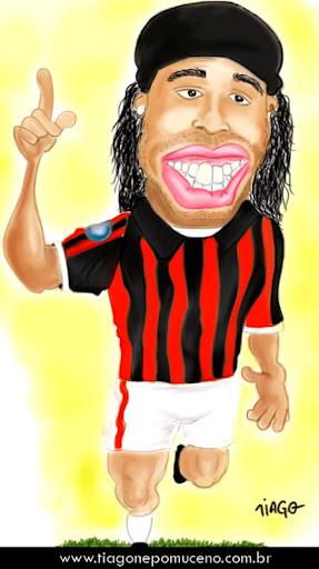 Caricatura do Ronaldinho Gaúcho