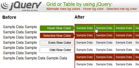 jquery_table_rows_hover_selected_colors