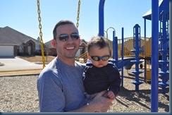 daddy and huddie just hangin in the park