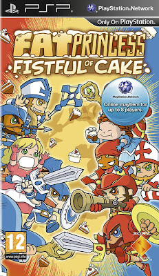 Fat Princess, Fistful of Cake, psp, video, game, screen, box, art, cover
