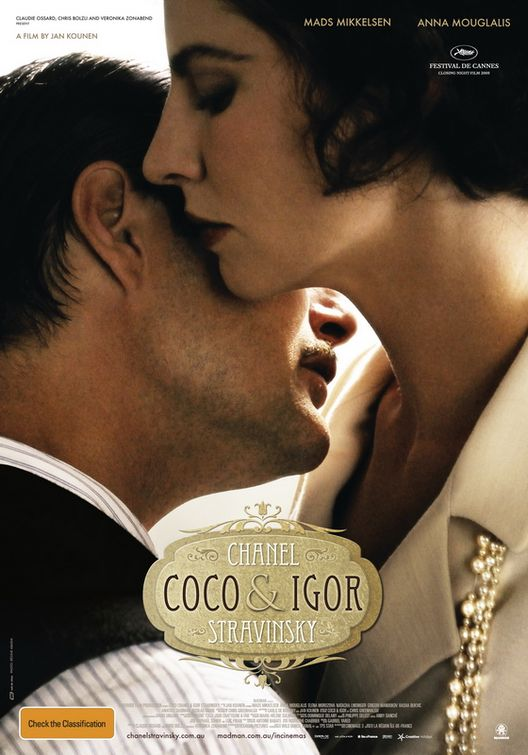Chanel Coco & Igor Stravinsky, movie, poster
