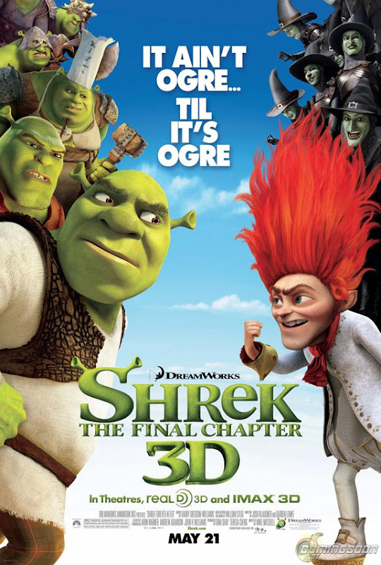 Shrek Forever After, New, Movie, Poster, image, screen