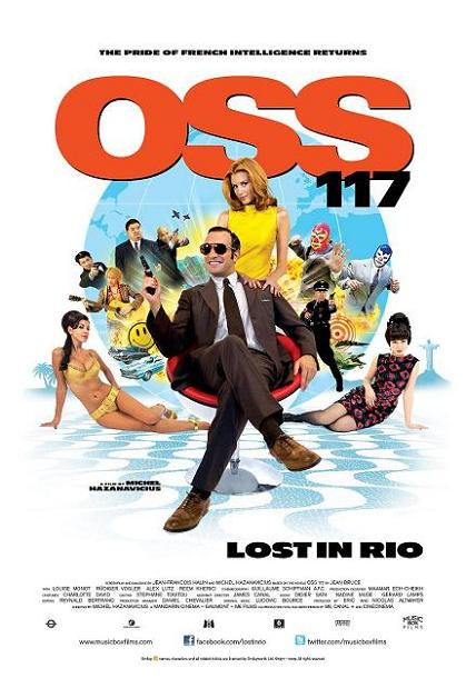 OSS 117: Lost in Rio, movie, poster, dvd, cover