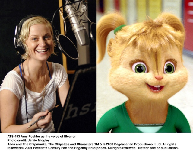 amy poehler, eleanor, chipmunks, The Squeakuel