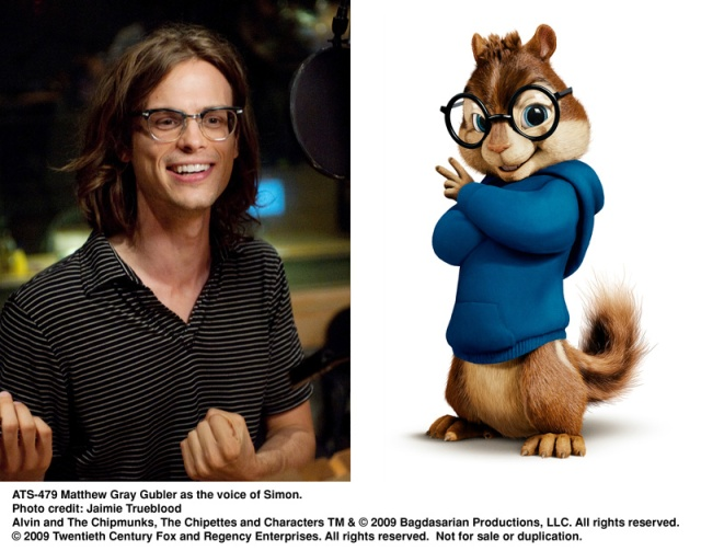 simon, matthew gray gubler, chipmunks, The Squeakuel