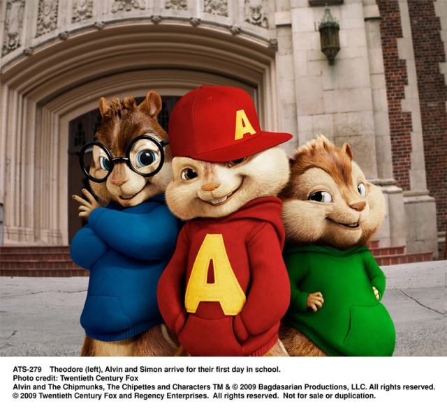 theodore, alvin, simon, chipmunks, The Squeakuel