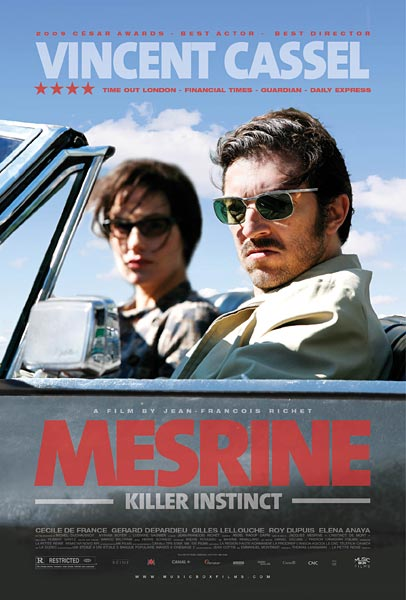 Mesrine: Killer Instinct, movie, poster