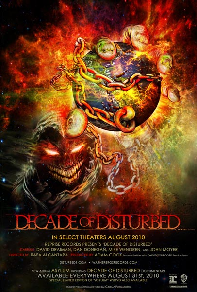 Decade of Disturbed, movie, poster