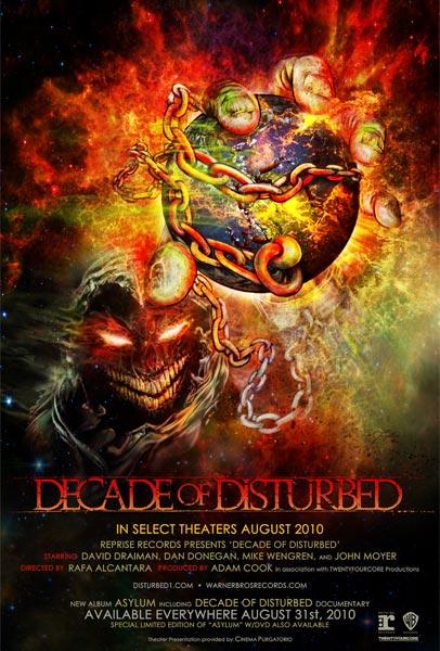 Decade of Disturbed, movie, poster