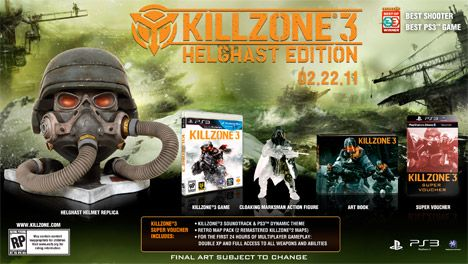 Killzone 3, Helghast Edition, ps3, box, art