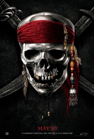 Pirates of the Caribbean 4, On Stranger Tides, movie, poster