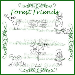 forest friends collage