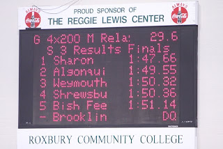 New SHS school record posted on the Reggie Lewis Track scoreboard - 1:47.66