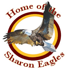 Sharon H.S. - Home of the Eagles! Click mascot image to link to SHS website.