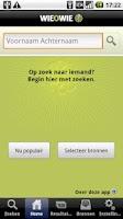 Screenshot of Wieowie - personenzoekmachine