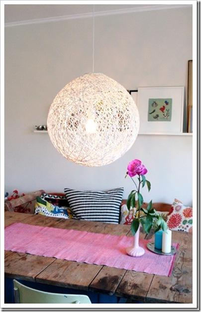 kreatív fonál lámpa