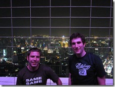 Bangkok: Marc and Felix on the tower