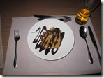 Bangkok: Course 8 - panncacke with apple, rosin and choclate
