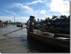 a smaller floating market