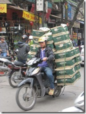 a motorbike loaded as usual