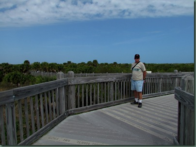 Al on the boardwalk of the National Wildlife Refuges