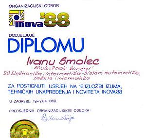 Diploma - INOVA 88