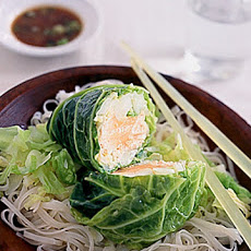 Salmon Steamed with Savoy Cabbage