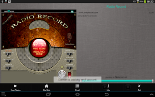 Screenshot of Radio Record