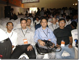 Left to Right - Sumit, Nitin, Arjit and Suprotim attending the Keynote