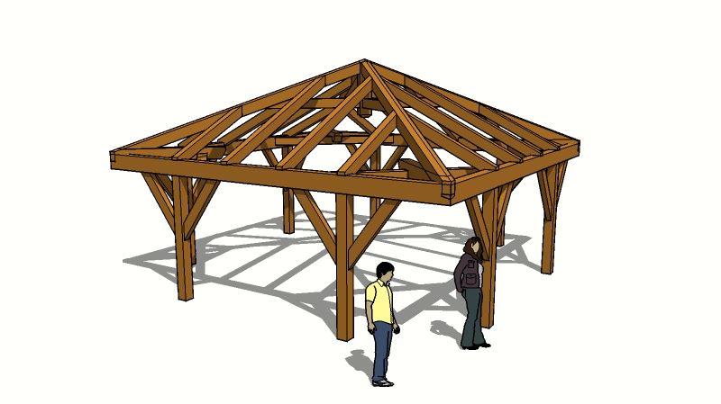 Hip Roof Design Timberframe Design Timber Frame Forums