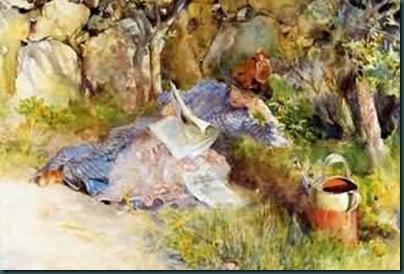 Woman-Reading-Newspaper--