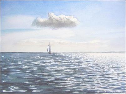 'Zeilboot op zee' van Stefan Bleekrode