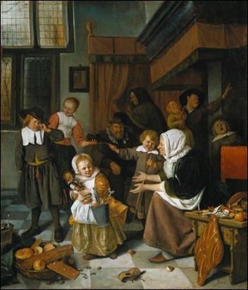 Jan Steen; Het Sint Nicolaasfeest 1663