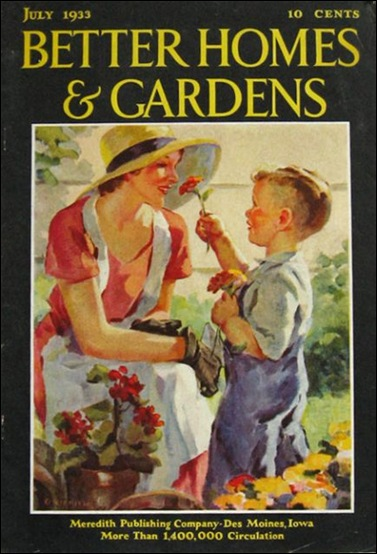 A Very Fairy Garden Vintage Magazines Covers: bhg g
