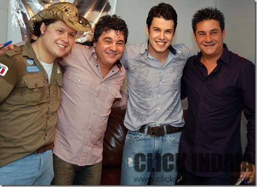 Bruno di Marco & Christiano com Cezar & Paulinho (Crédito: Fábio Alexandre)