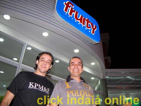 Tarik e Kleber Patrício na inauguração da Fruity (Crédito: Fábio Alexandre)