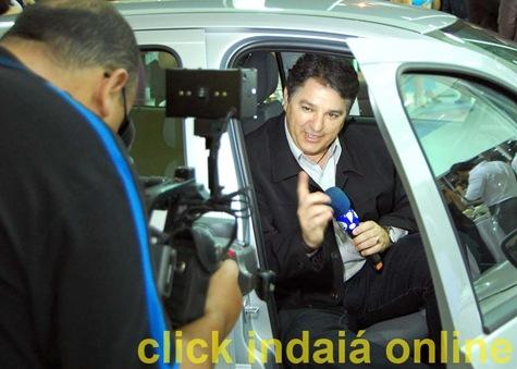 Demétrio durante gravação na Nova Ivesa (Crédito: Fábio Alexandre)