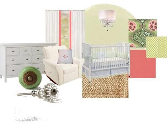 Polyvore - Baby Girl's Nursery