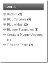 How to remove count label indicator from blogger