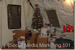 Christmas 05 in a tent, Tal'Afar, Iraq