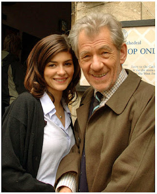 Da Vinci Code - Sir Ian Mckellen, Audrey Tautou Filming - Lincoln Cathedral