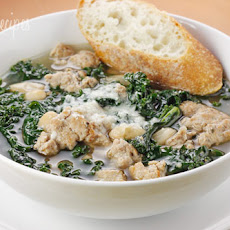 Turkey Sausage, Kale and White Bean Soup
