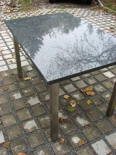 tisch edelstahl granit k chentisch naturstein k che neu ebay. Black Bedroom Furniture Sets. Home Design Ideas