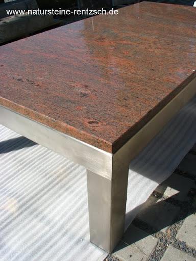 Tisch edelstahl couchtisch esstisch natursteintisch for Marmortisch esstisch
